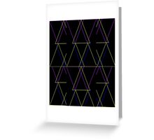 TRIANGLE MULTICOLOR GEOMETRIC Greeting Card