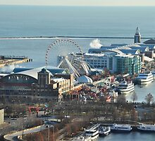 Navy Pier in the Morning by mltrue