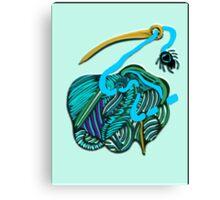 lio azul Canvas Print