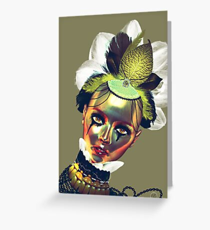 Lady Gold Greeting Card