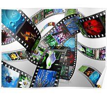 3D Filmstrip Poster