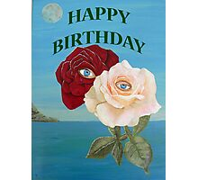 HAPPY BIRTHDAY ROSES Photographic Print