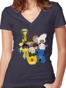 Classic X-men Women's Fitted V-Neck T-Shirt