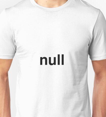 null Unisex T-Shirt