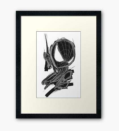 black spider! Framed Print