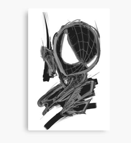 black spider! Canvas Print