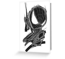 black spider! Greeting Card