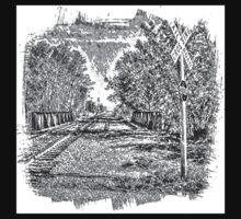 Railroad Bridge Over the Yahara Kids Clothes