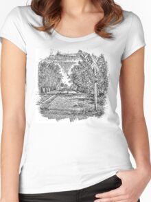 Railroad Bridge Over the Yahara Women's Fitted Scoop T-Shirt