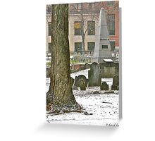 Franklin Family Monument Greeting Card
