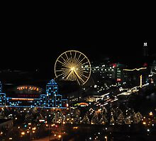Navy Pier at Night by mltrue