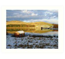 Glenkiln Reservoir SW Scotland Art Print