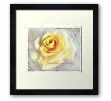 Touching your soul... Framed Print