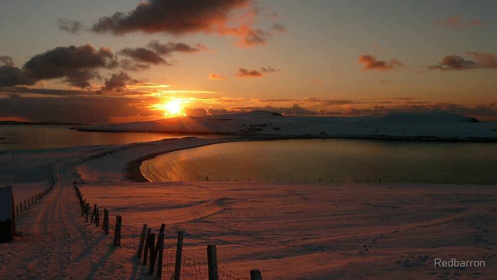 Sunset Over Minn Beach by Redbarron
