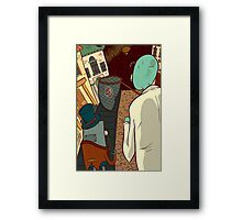 Mantus with Robot and Fairy on Victoriana Framed Print