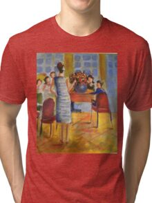 Afternoon tea party Tri-blend T-Shirt