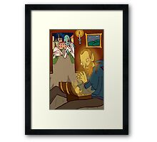 Mantus Sees the Fairy Creature Fagin Looking Through Treasures on Victoriana Framed Print