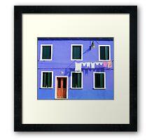 Burano Facade Framed Print
