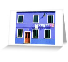 Burano Facade Greeting Card