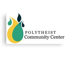 Polytheist Community Center Title & Logo Canvas Print