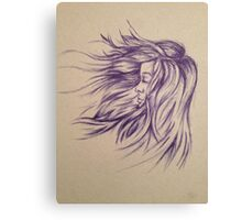 Hair Blowing in the Wind Canvas Print