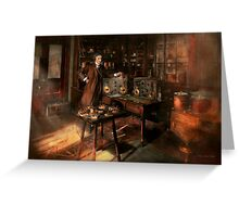 Steampunk - The time traveler 1920 Greeting Card