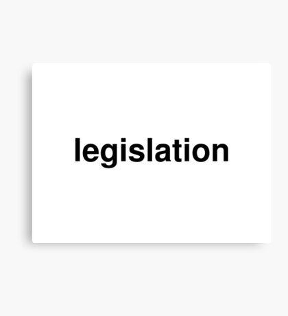 legislation Canvas Print