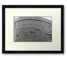 Uni-Freeze Framed Print
