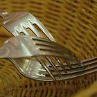 Three Forks in a Bread Basket by arteestmavie
