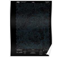 USGS Topo Map Oregon Old Blue 20110824 TM Inverted Poster