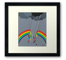 BROKEN RAINBOW - BRUSH AND GOUACHE Framed Print