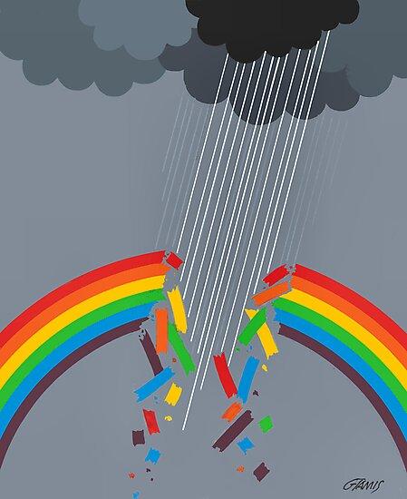 BROKEN RAINBOW - BRUSH AND GOUACHE by RainbowArt