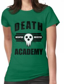 Death Weapon Meister Academy (Black) Womens Fitted T-Shirt