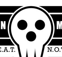 Death Weapon Meister Academy (Black) Sticker