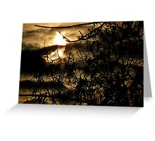 solar eclipse of January 4, 2011 Greeting Card