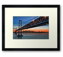 That Darned Bridge… at Sunset Framed Print