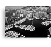 Beautiful Monaco Harbor ~ Black & White Canvas Print
