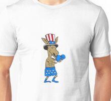 Democrat Donkey Boxer Mascot Cartoon Unisex T-Shirt