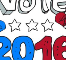 Vote 2016 Donkey Boxer and Elephant Mascot Cartoon Sticker
