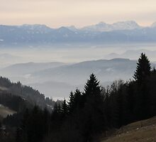 The foot hills of Lower  Carinthia by Bertspix1