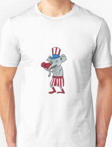 Republican Mascot Elephant Boxer Boxing Cartoon T-Shirt