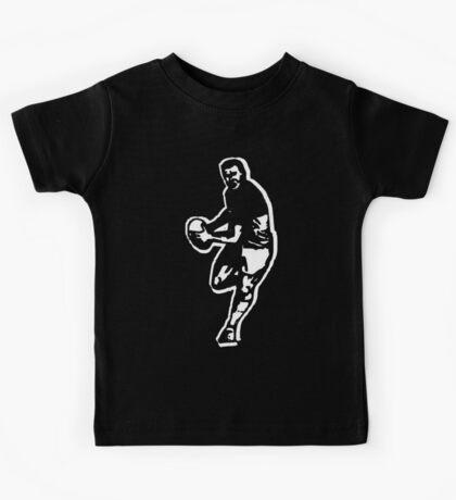 rugby t-shirt on dark Kids Tee