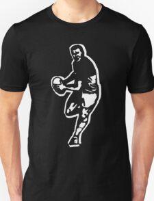rugby t-shirt on dark T-Shirt