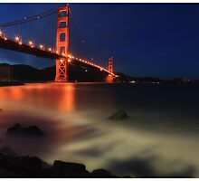 Golden Gate @ Dusk by Chris Odchigue