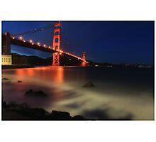 Golden Gate @ Dusk Photographic Print