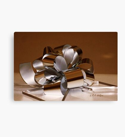 Holiday Ribbon Canvas Print
