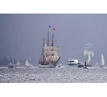 Sailing in the Rain Photographic Print