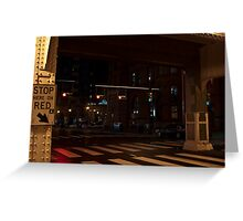 Stop Here on Red Greeting Card