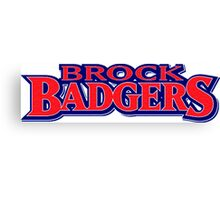 Brock University Logo (Name) Canvas Print