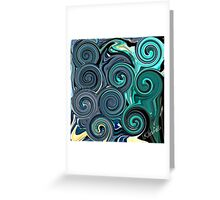 BLUE LOVE  Greeting Card